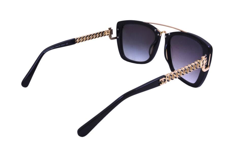 Ladies Chanel 5509 Black Sunglasses 5