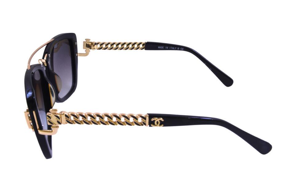 Ladies Chanel 5509 Black Sunglasses 3
