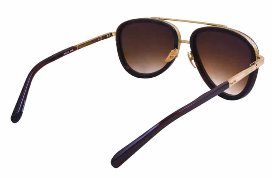 Dita Mach Two Brown Gold Sunglasses 5 3