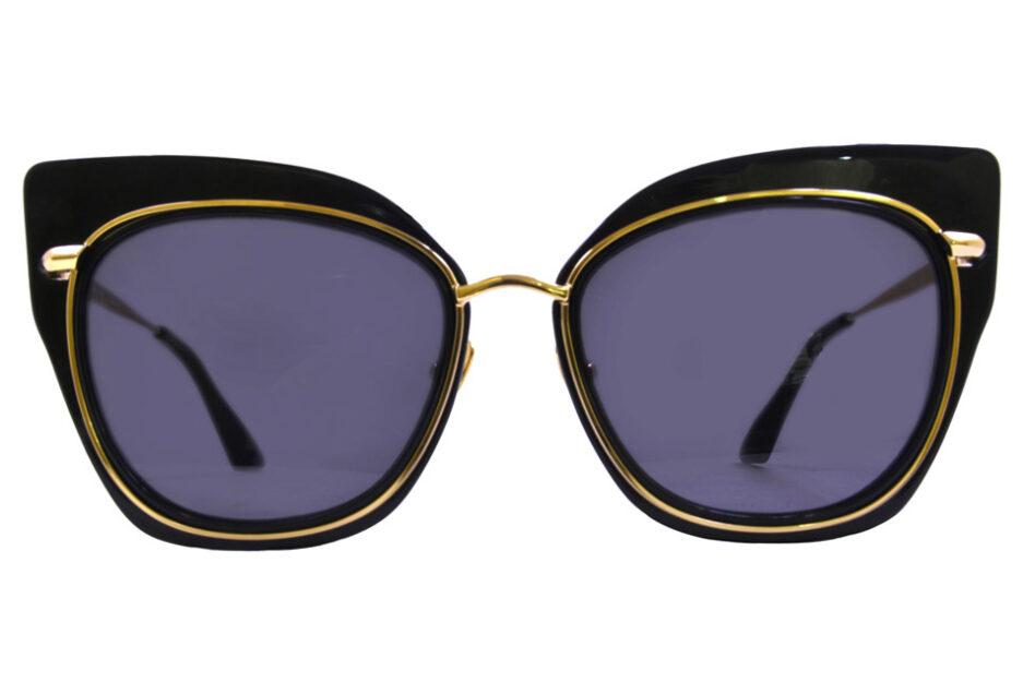 Dita Ladies Sunglasses Black Gold 1