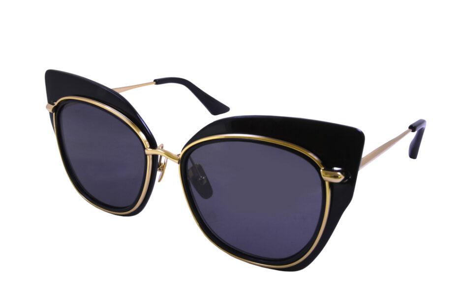 Dita Ladies Sunglasses Black Gold 2