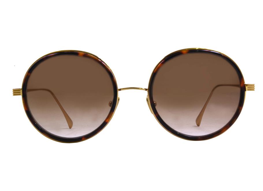 Round Dita Freebird Sunglasse Tortoise 1