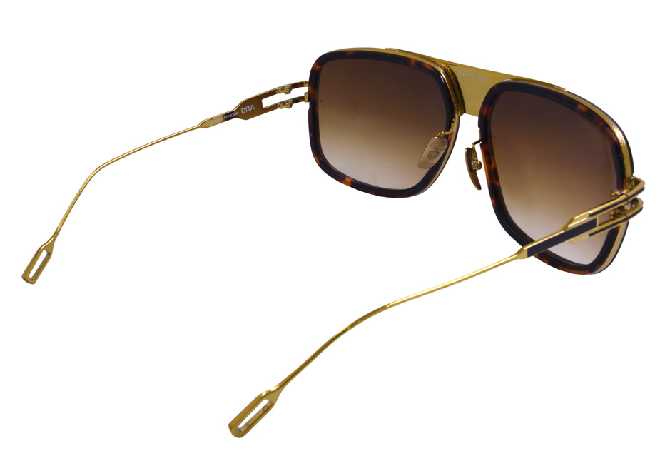 Sunglasses Dita Grandmaster Five Sunglasses Tortoise Gold 5