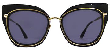 Dita Ladies Sunglasses Black Gold