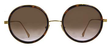 Round Dita Freebird Sunglasse Tortoise