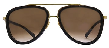 Dita Mach Two Brown Gold Sunglases