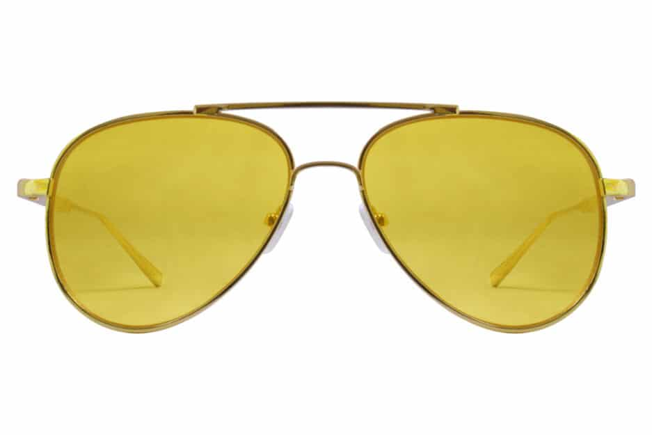 Aviator Yellow Gold Sunglasses 1