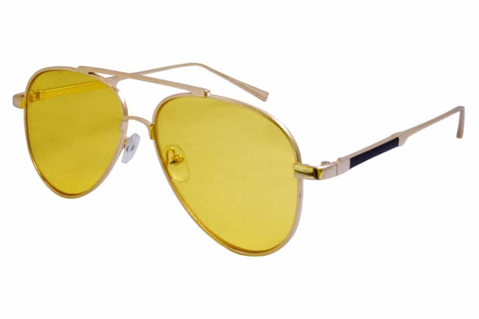 Aviator Yellow Gold Sunglasses 2