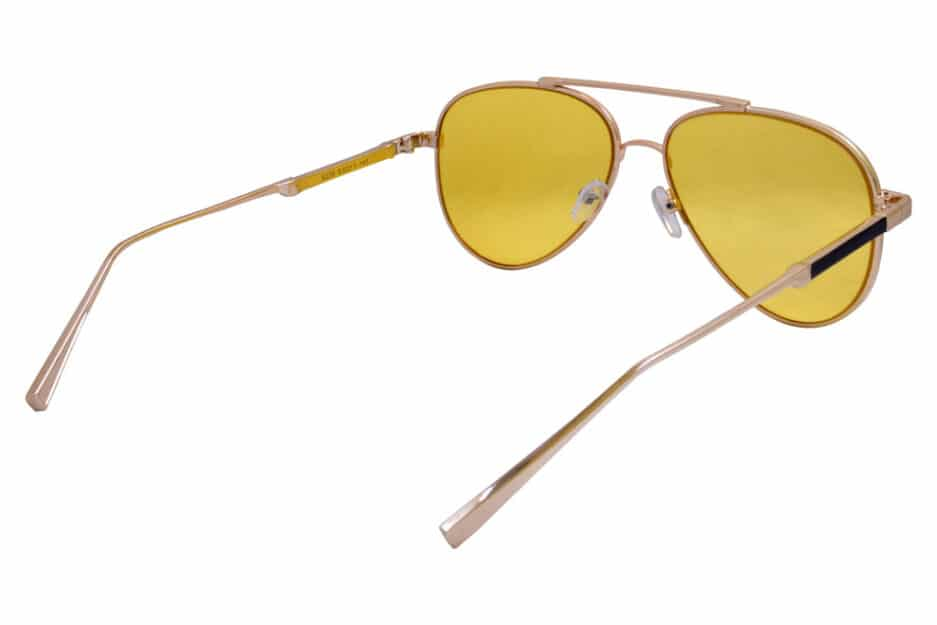 Aviator Yellow Gold Sunglasses 5